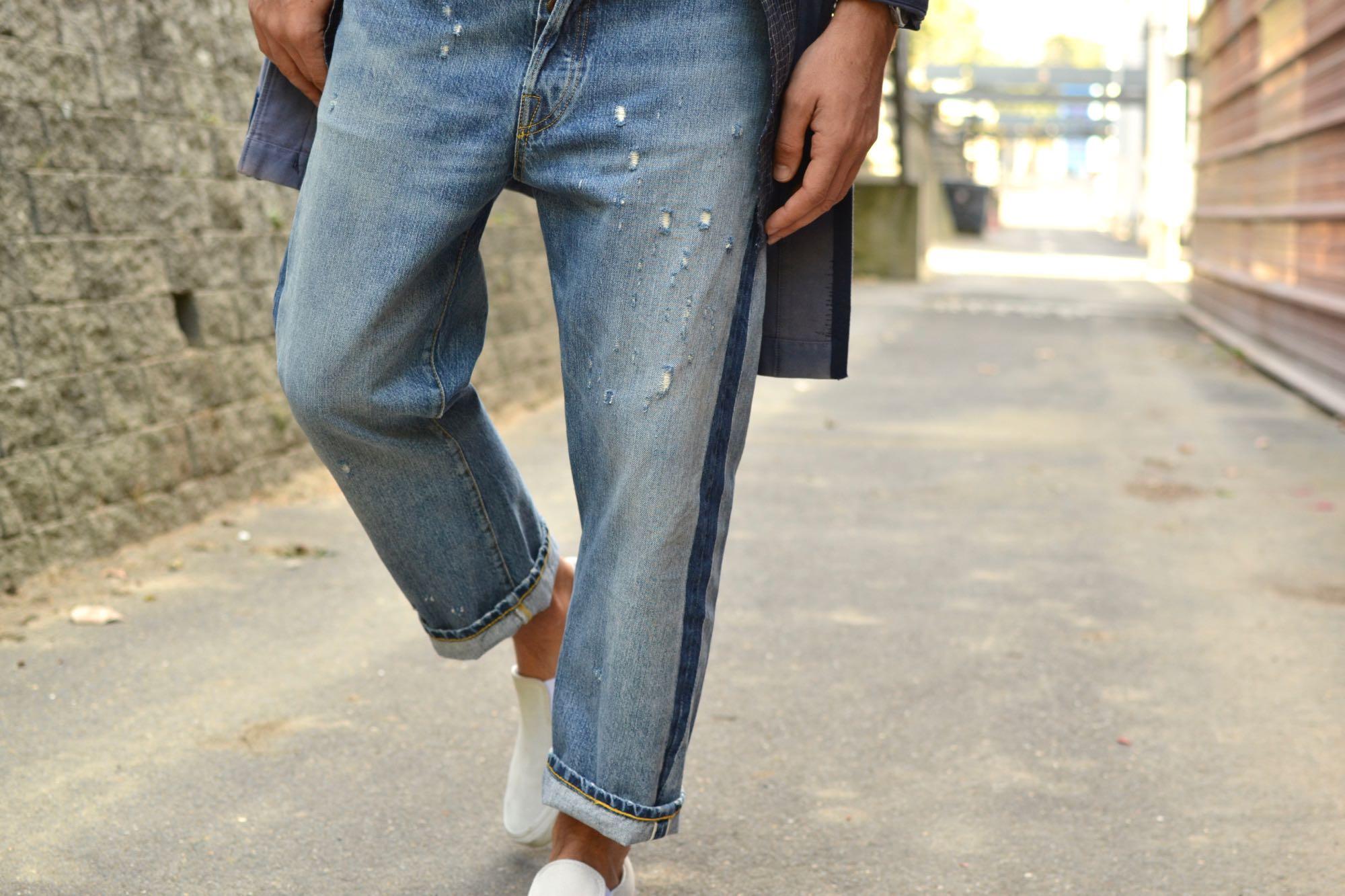 Exemple de comment porter un levis 501 de la gamme Levi'es vintage clothing
