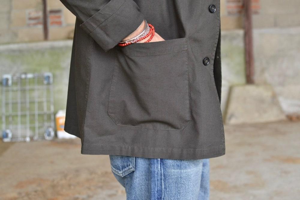 Béton Ciré miki denim - Vetra bleu de travail - Maison Cornichon tee shirt - Soulive bluxe washed denim - Visvim virgil Cantor-Folk Boots