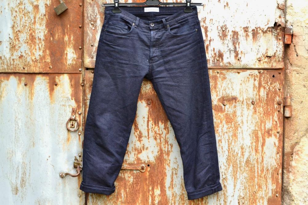 pantalon e toile de canevas indigo bonnegueuel