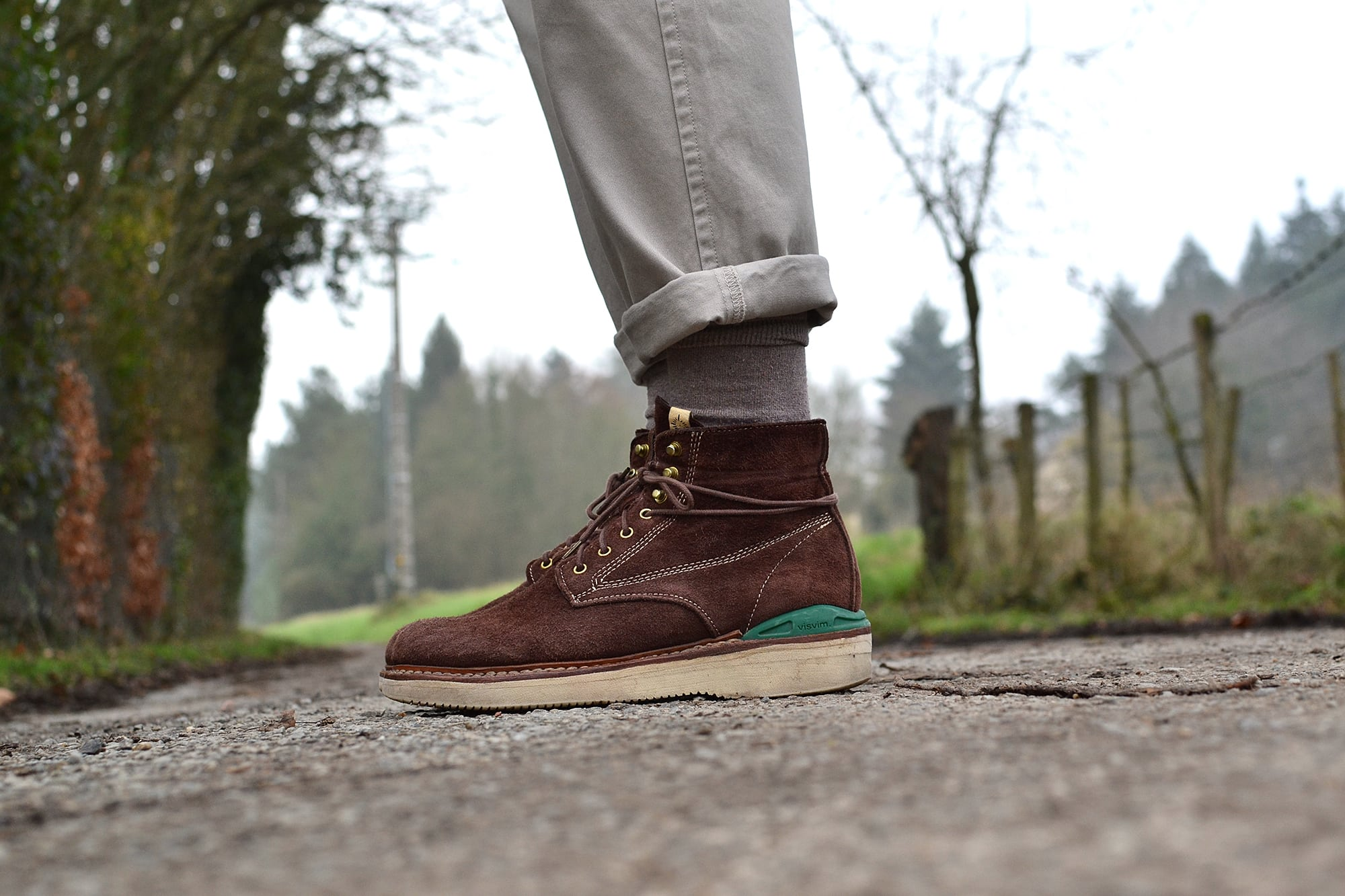How to wear work boots Visvim Virgil brown chocolate elk boots
