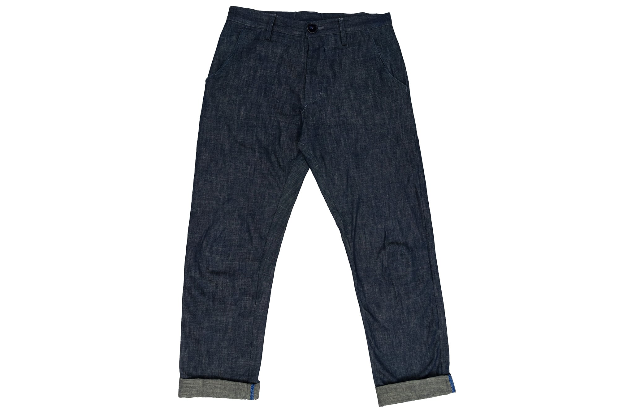 Pantallon léger en denim Japan Blue 8oz - couple droite / ample