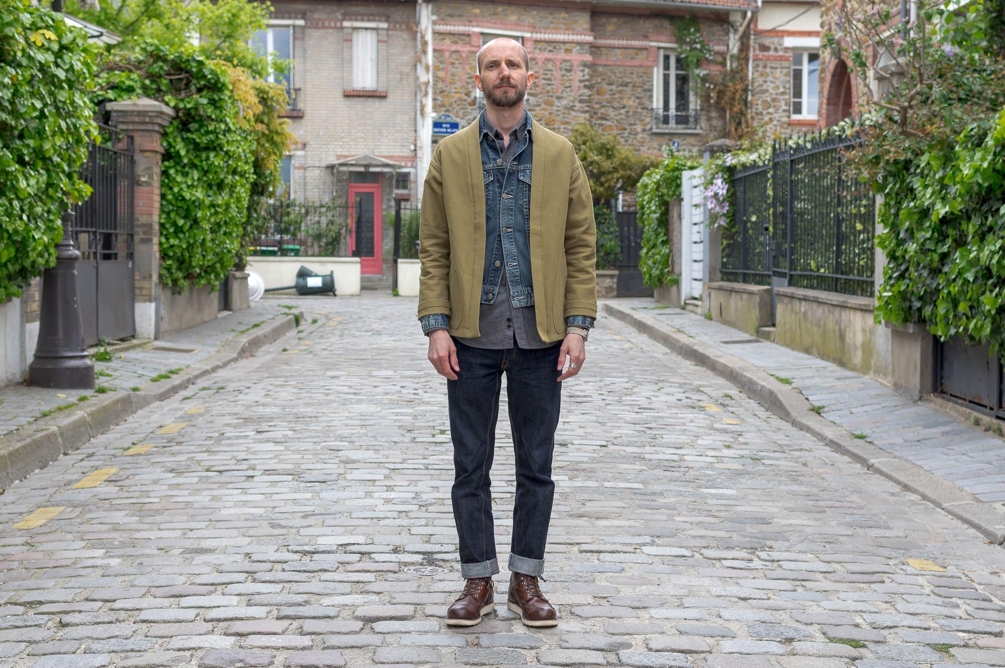 style workwear homme et noragi jacket - comment porter un kimono dans un look homme