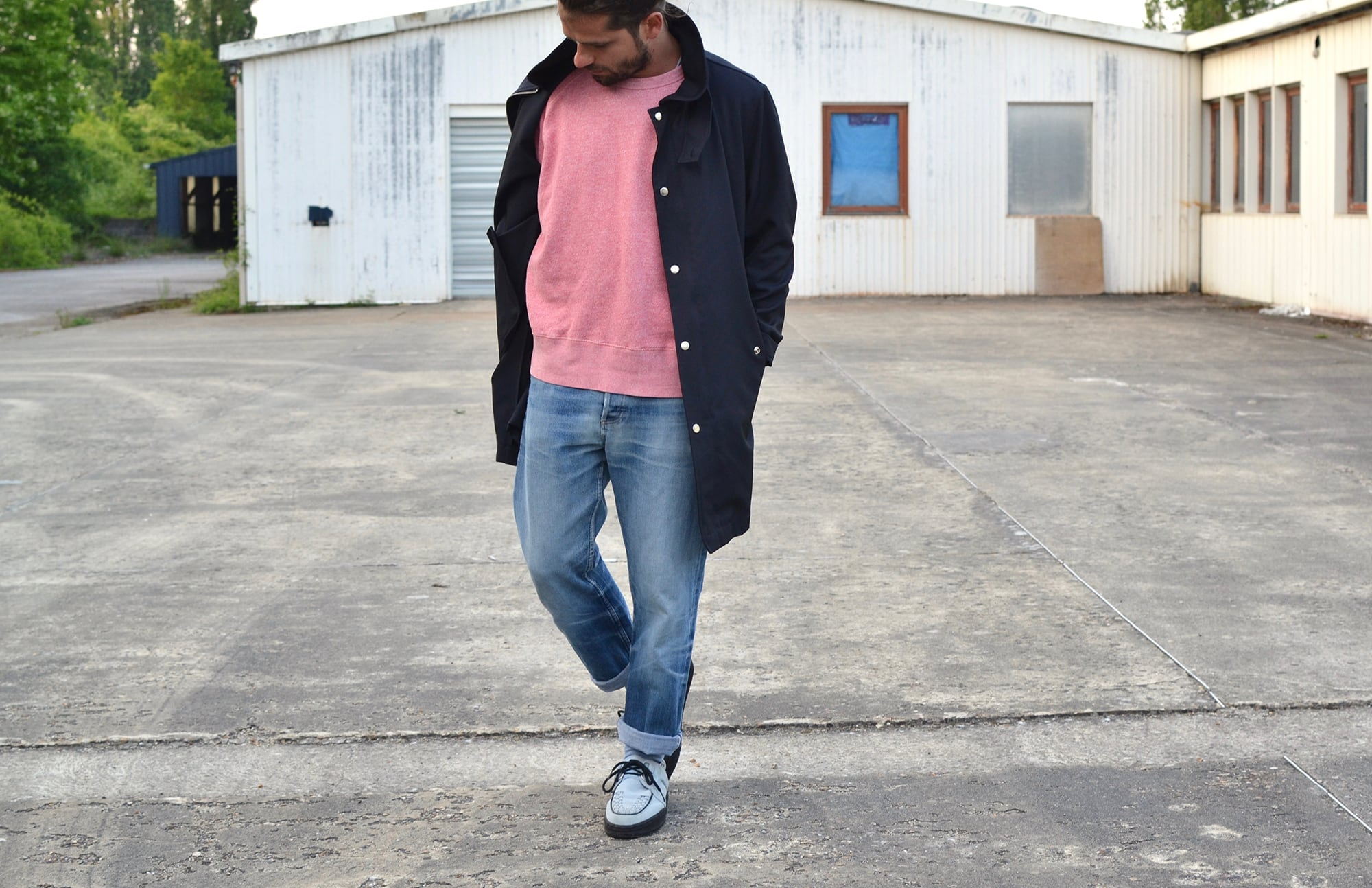 Visvim wolfe creepers and an our legacy style outfit