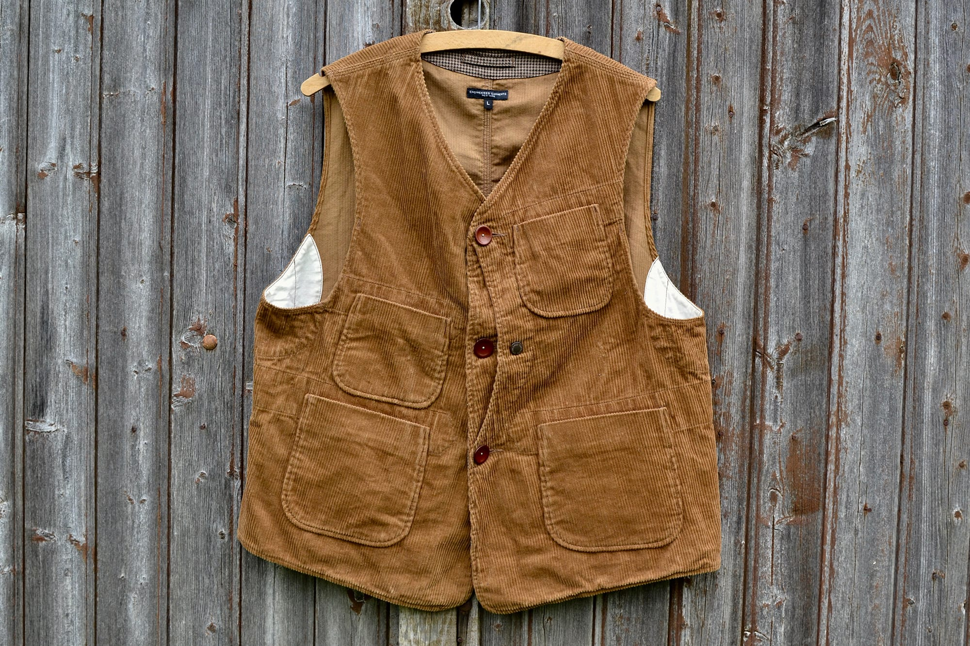 Engineered Garments tweed corduroy gilet workwear - 1