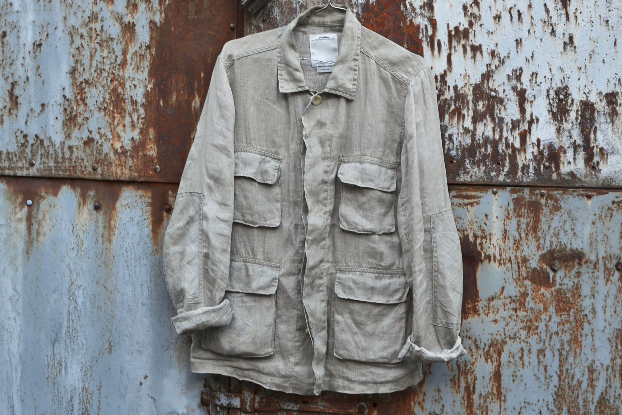 Visvim Kilgore linen jacket - sand color