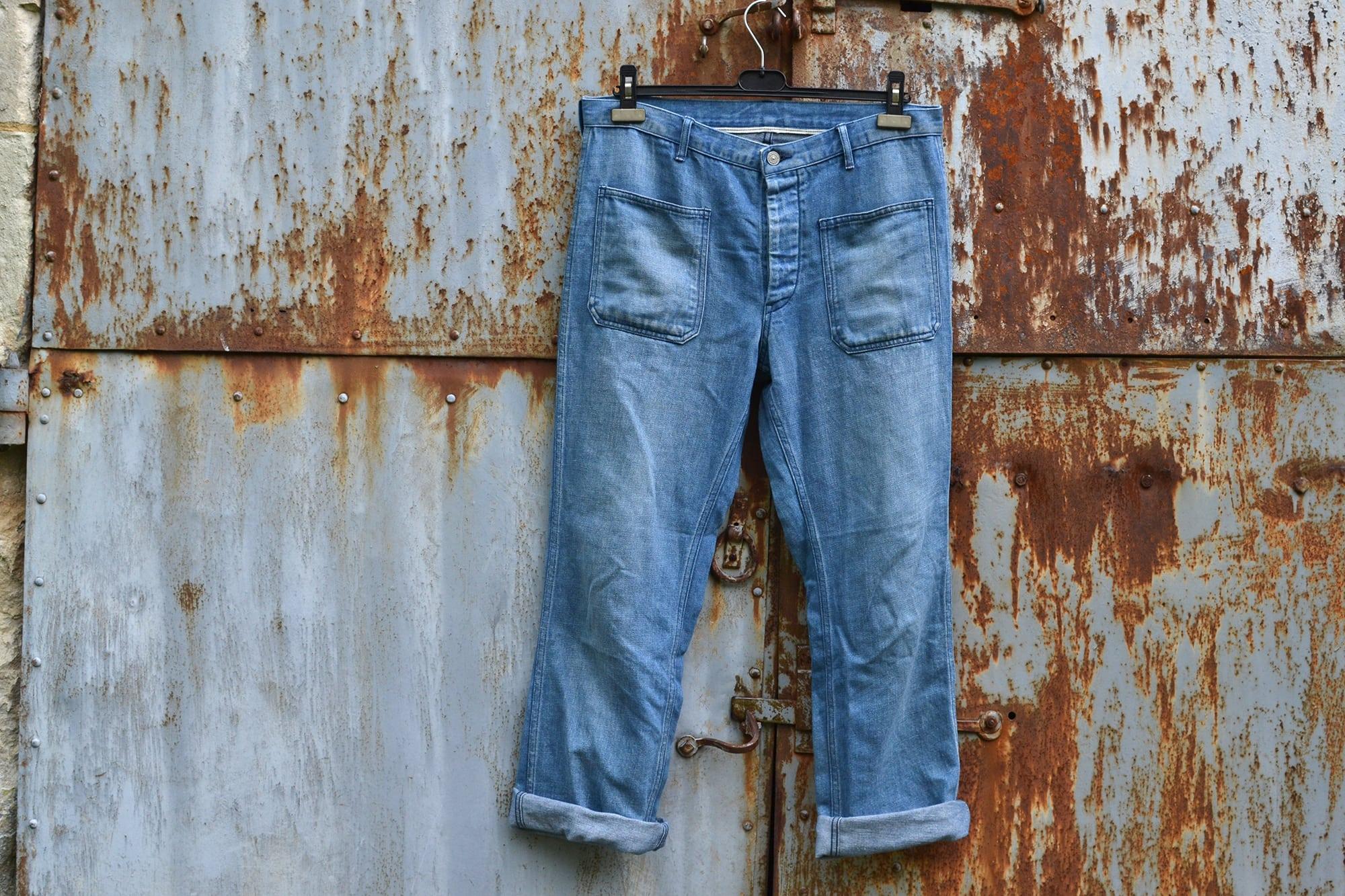 Visvim SS Deck Pants (Damaged) 2014 FW_Colors- Indigo and Lt Indigo - 1