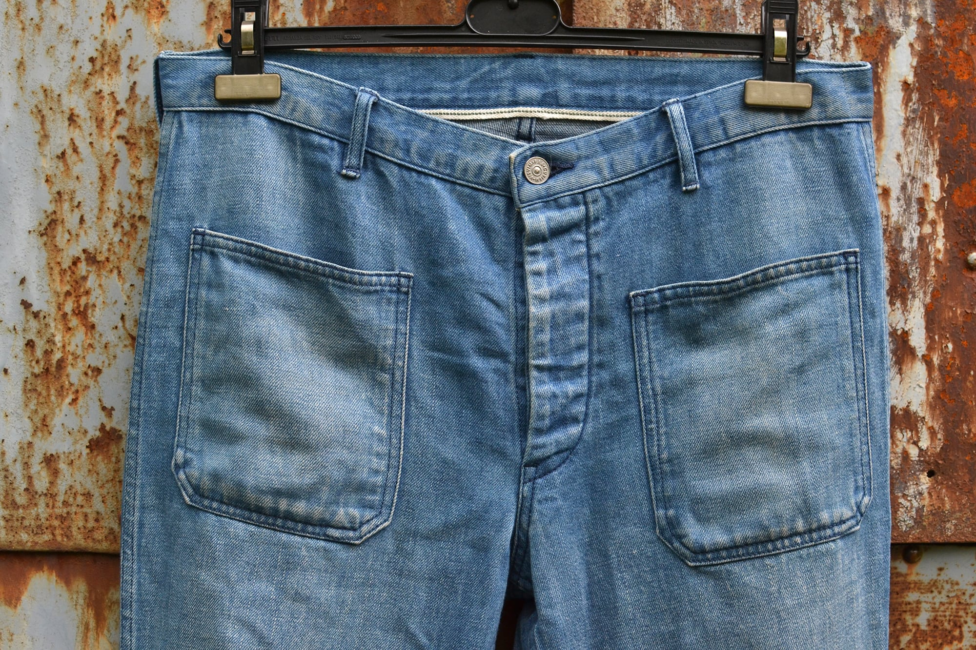 Visvim SS Deck Pants (Damaged) 2014 FW_Colors- Indigo and Lt Indigo - 1
