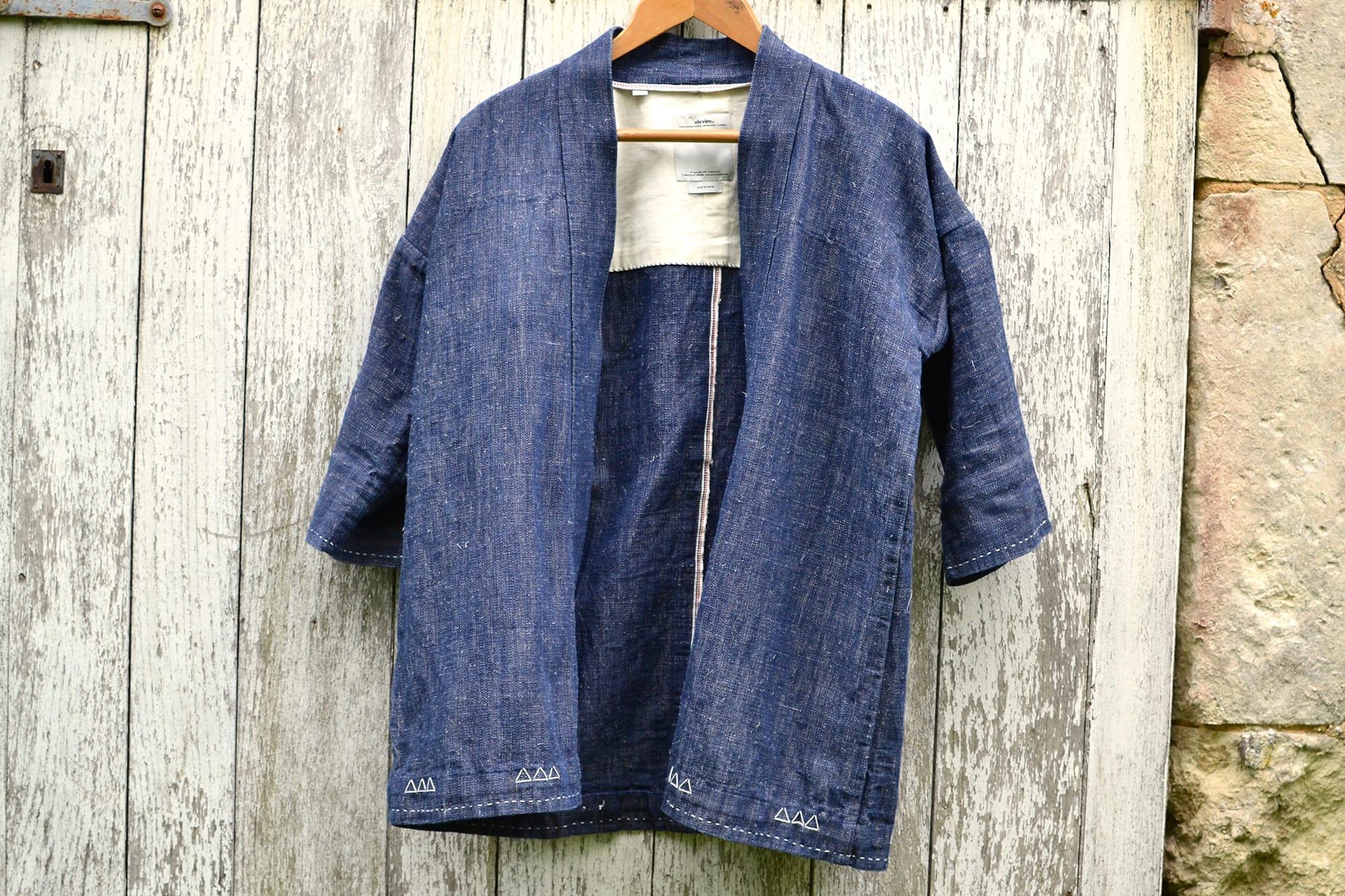 Visvim Sanjuro Kimono ( Luxsic-Linen ) Color- Indigo Dyed) - 1
