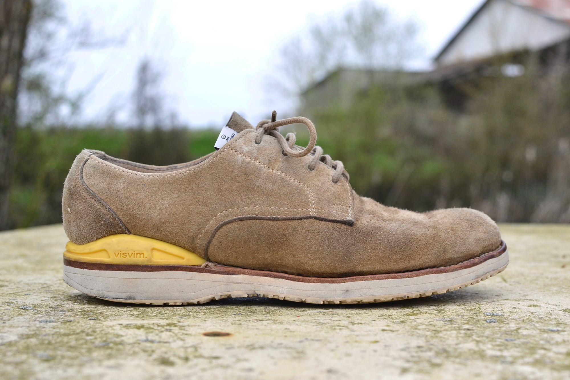 Visvim virgil folk low shoes - sand suede leather - 1