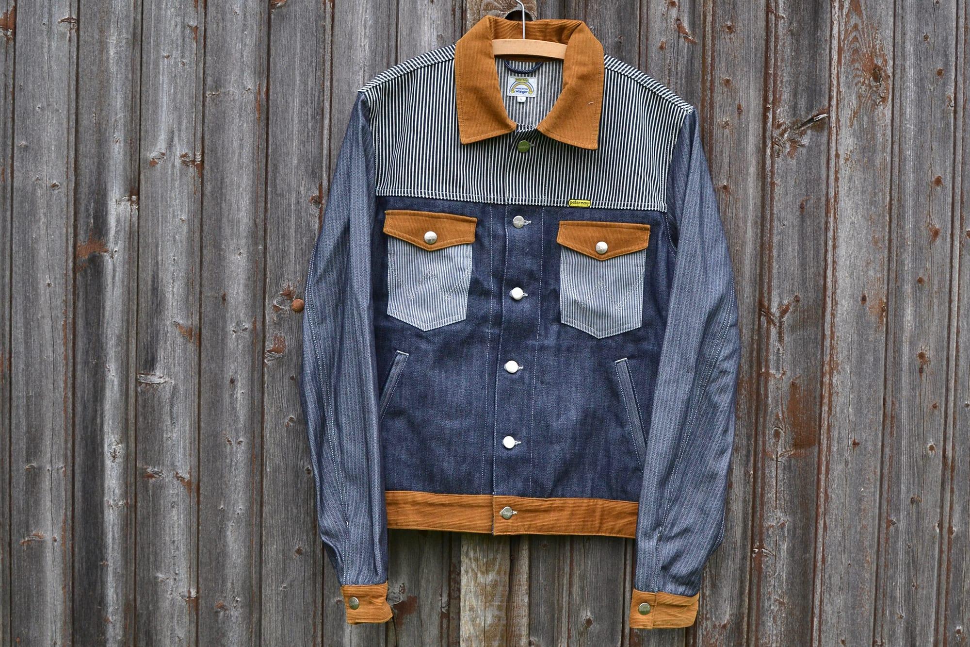 Wrangler x Peter Max mixed patchwork trucker jacket