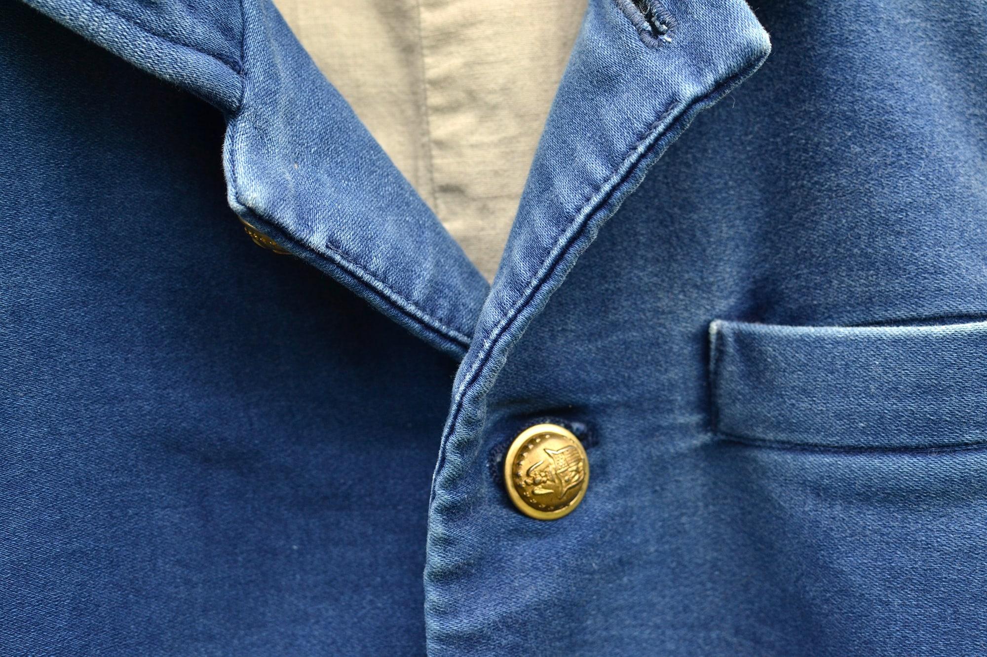 visvim potomac jacket - damaged indigo moleskine - 1