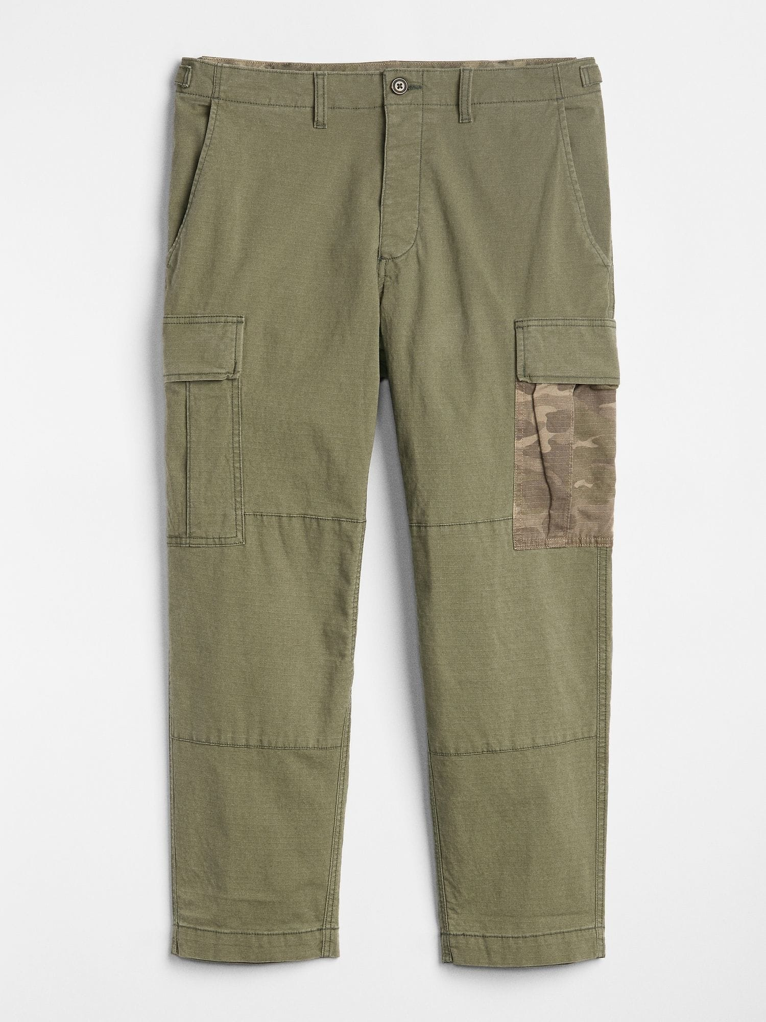 Camo Patch Crop Ripstop Cargo Pants with GapFlex gap