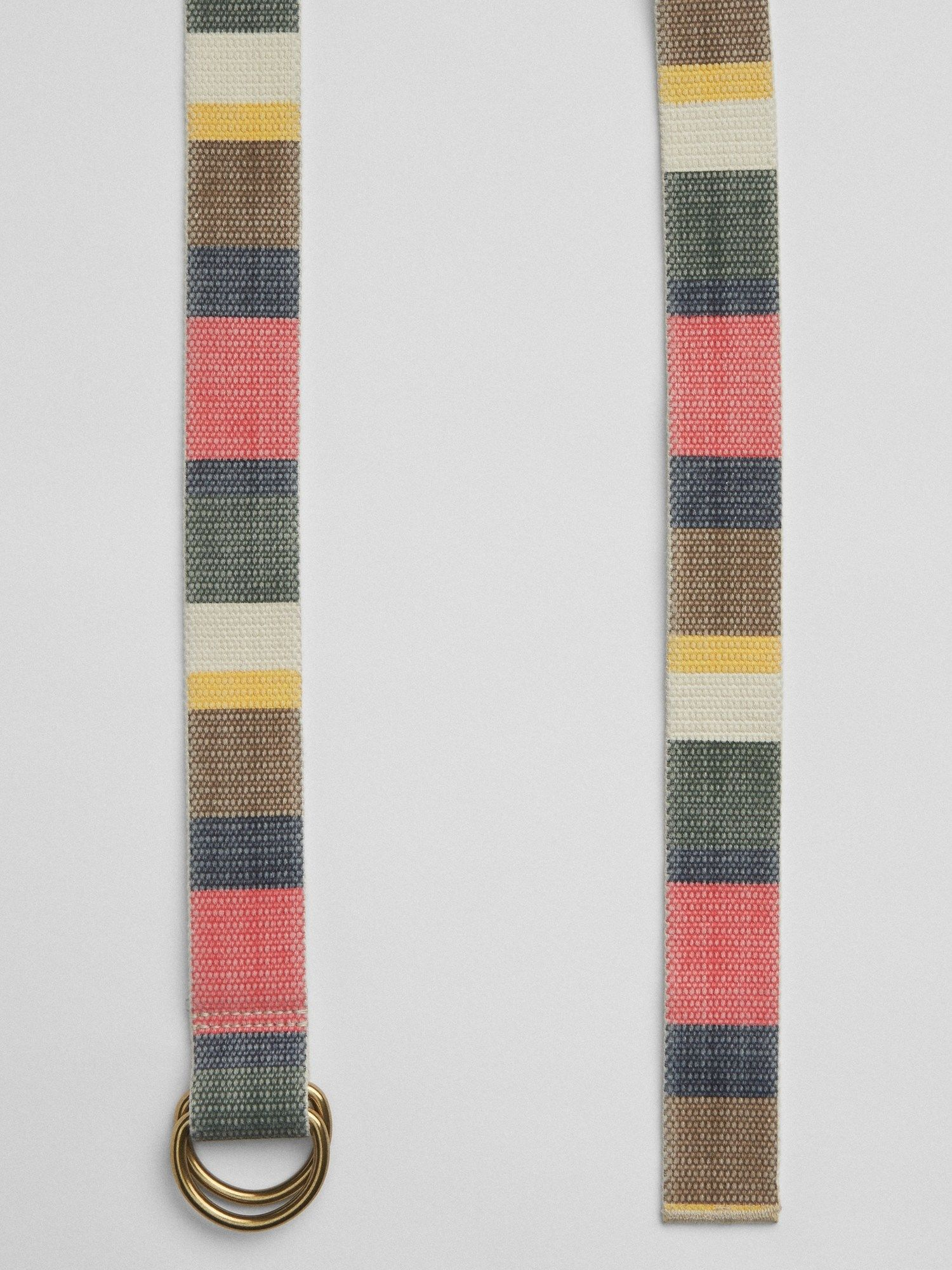 Colorblock Webbing Belt gap