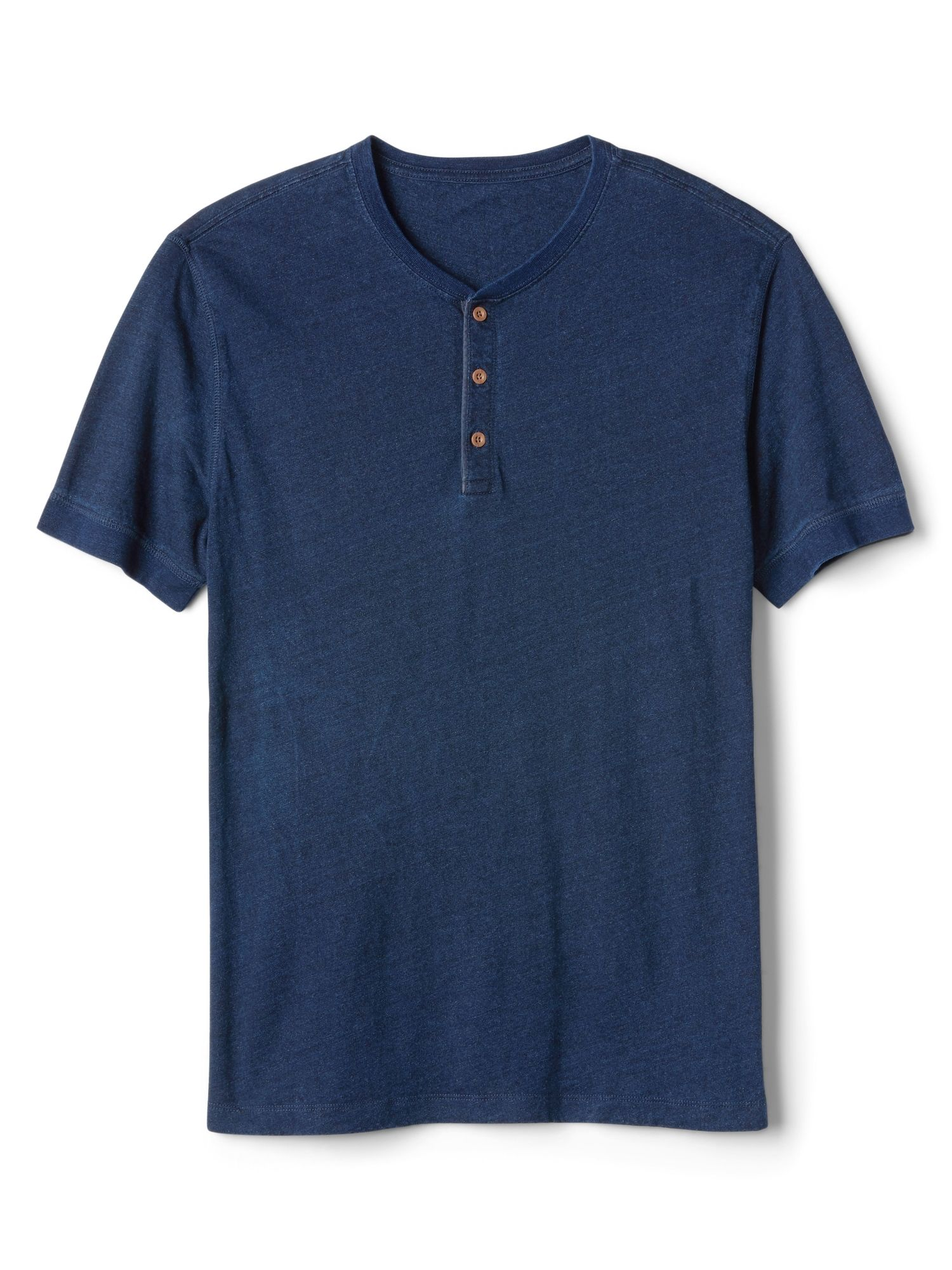 Short Sleeve Henley in Linen