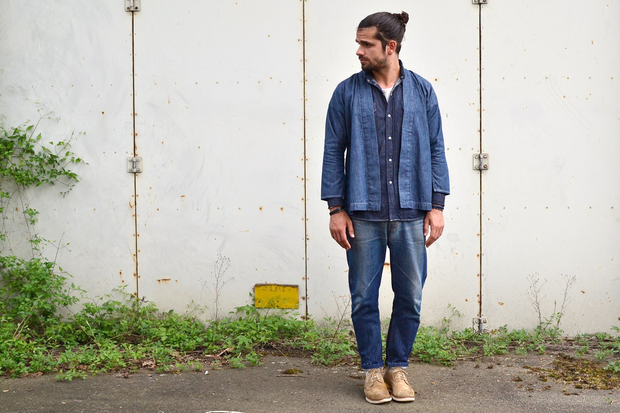 one wash denim noragi visvim - comment porter le style workwear homme - costume canadien