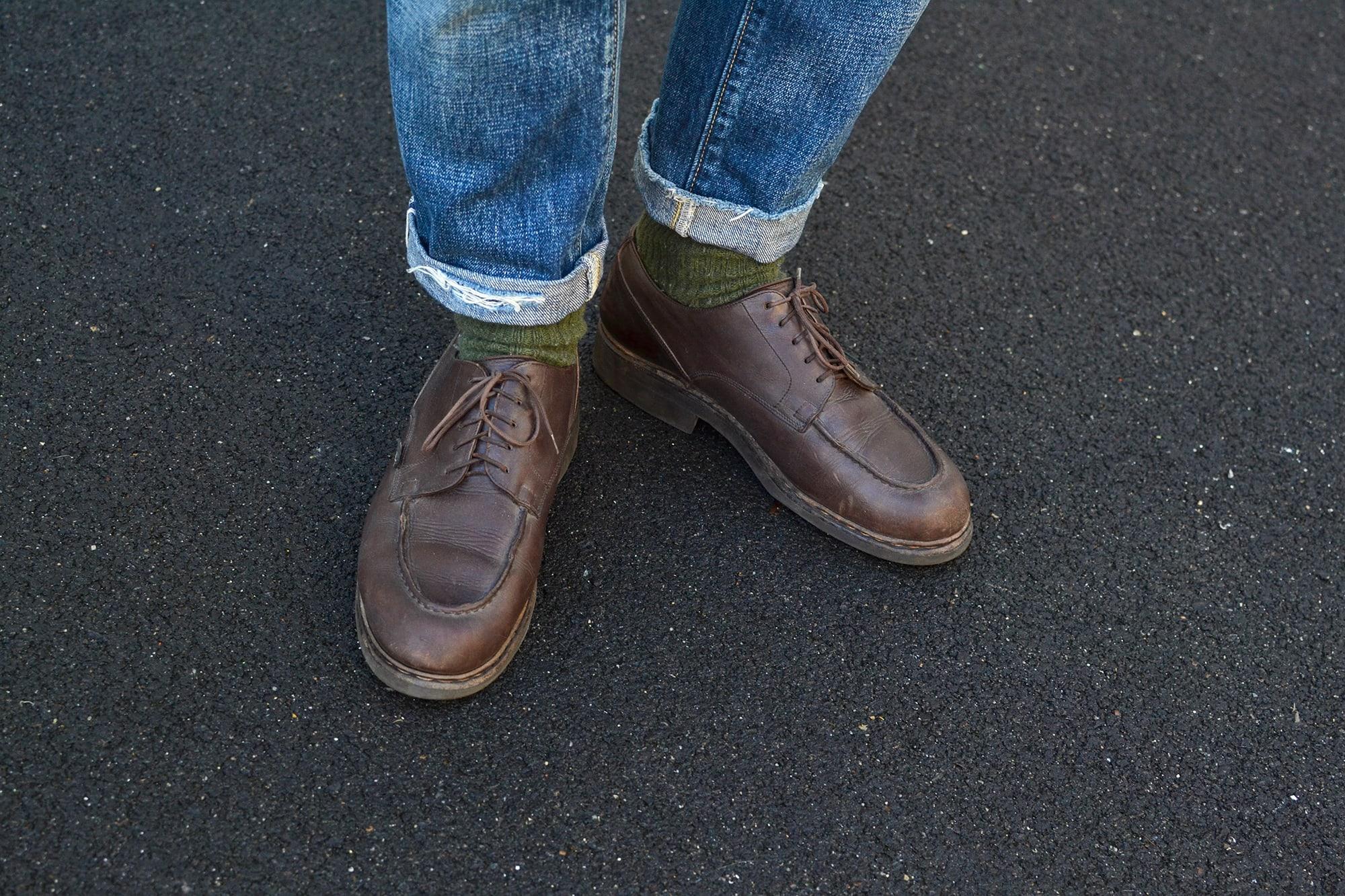 Comment porter une paire de Paraboot chambord vintage