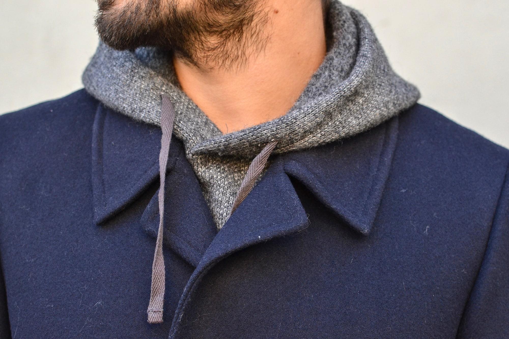 comment porter un manteau long avec du leayering et un interliner Engineered Garments
