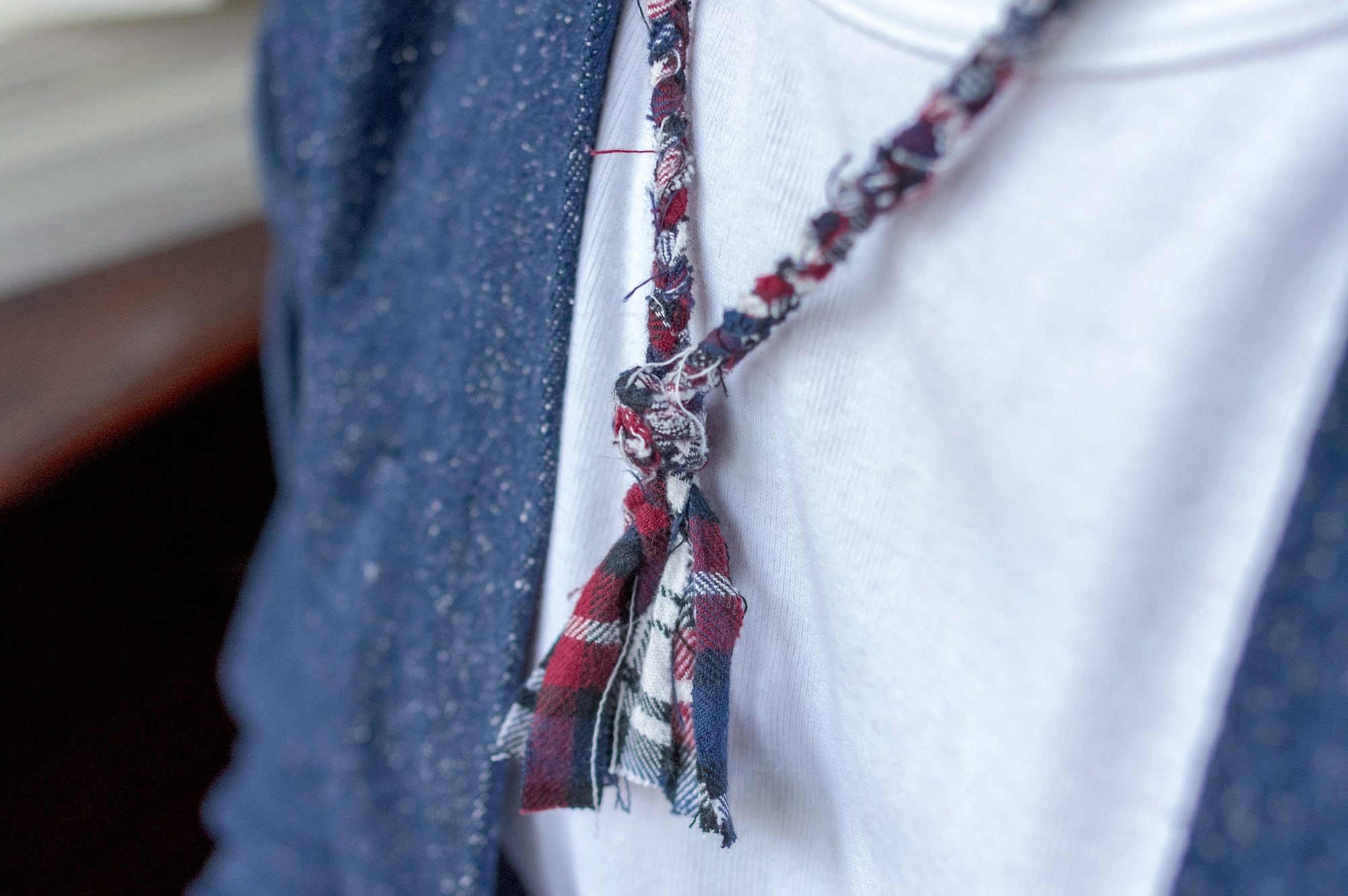 Noragi Borali sample 100% silk raw & hand-made necklace