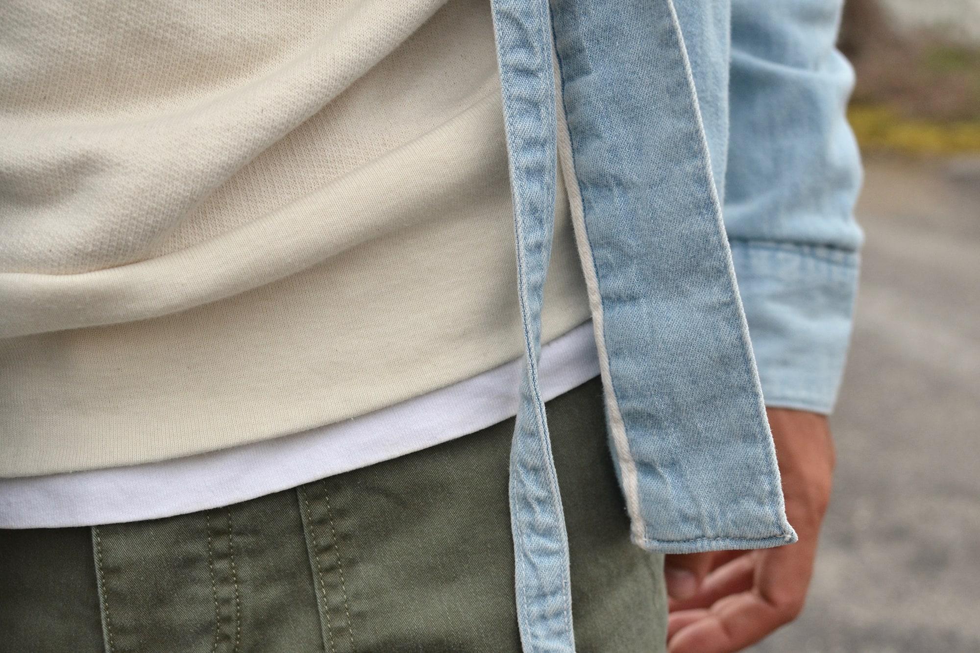 tenue street heritage avec des conseil pour porter une noragi et un fatigue pants drapeau noir olive