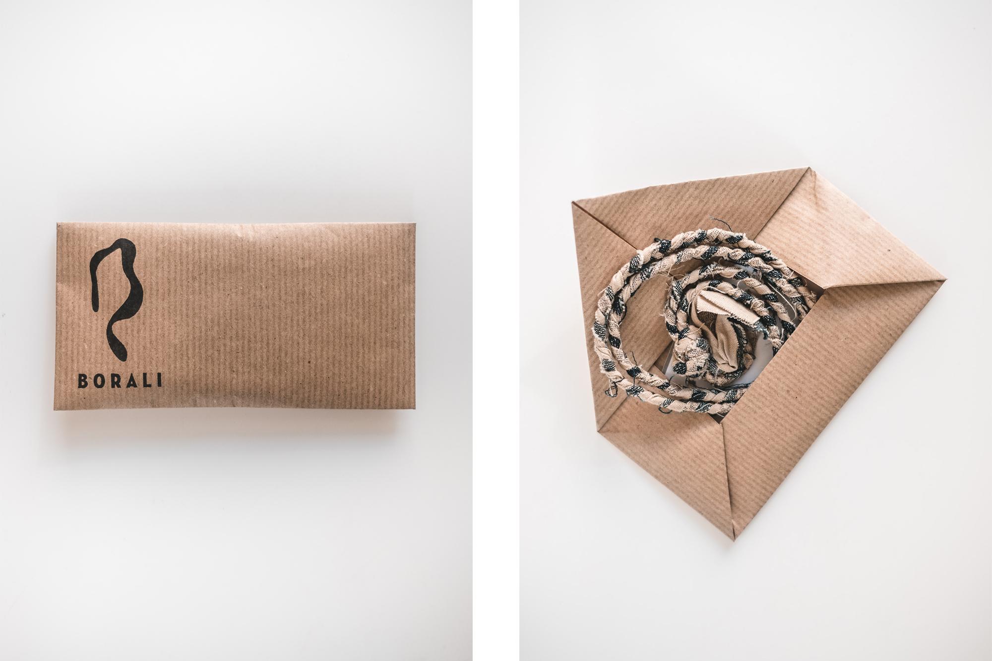 packaging & enveloppe Borali des colliers pour homme en tissus tressé