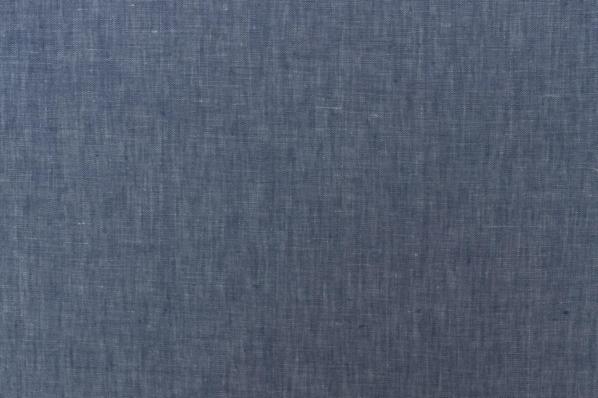 tissus Borali drop 2 en lin bleu