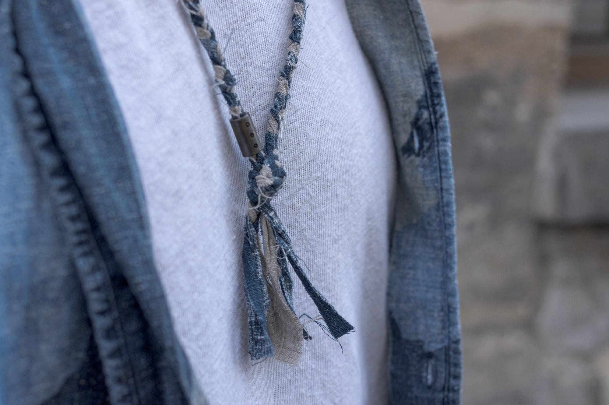 collier tissu homme