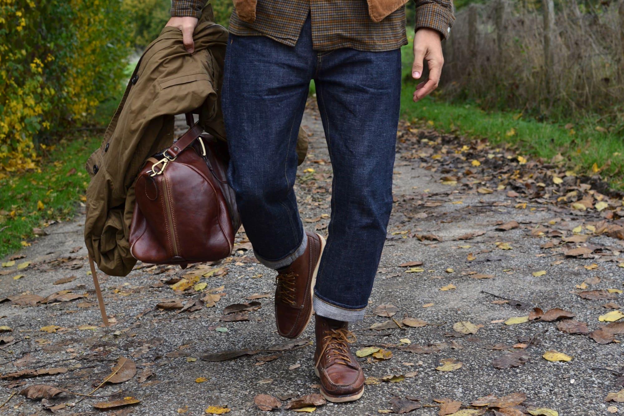 comment porter un jean brut selvedge 16oz comme le Phi denim dans un style street heritage workwear