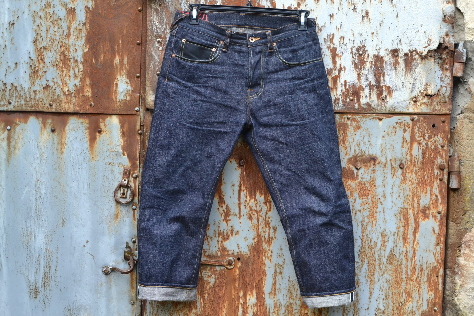PHI DENIM PHI04 16oz jeans raw selvedge MADE IN JAPAN jeans Pocket made with kimono offcuts, Tsugihagi つぎはぎ