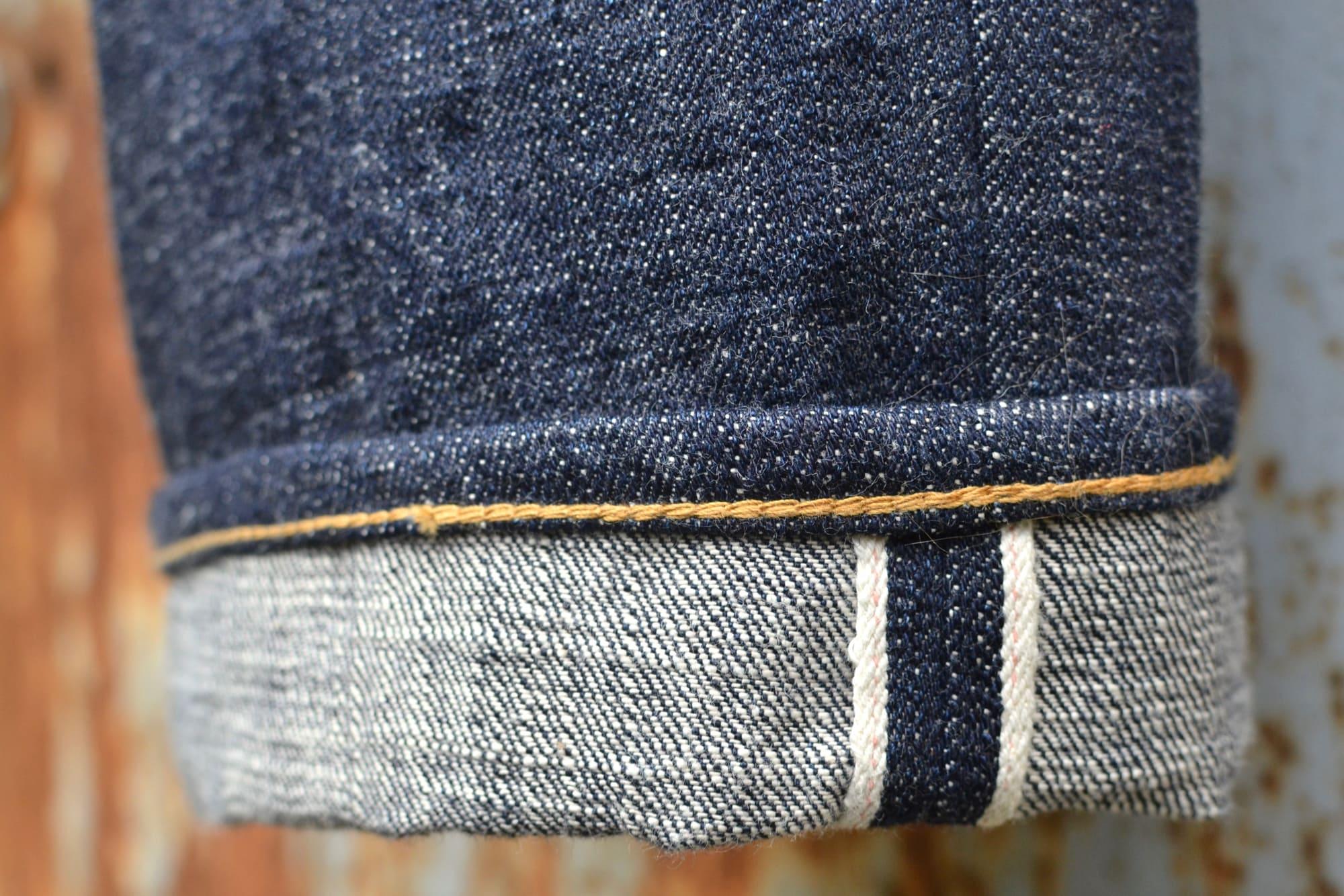 PHI DENIM PHI04 16oz jeans raw selvedge MADE IN JAPAN jeans Pocket made with kimono offcuts, Tsugihagi つぎはぎ