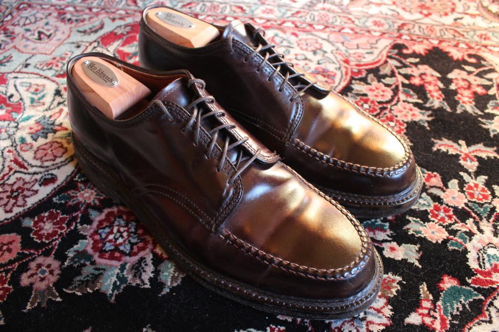Alden ranger moc shoes cordovan