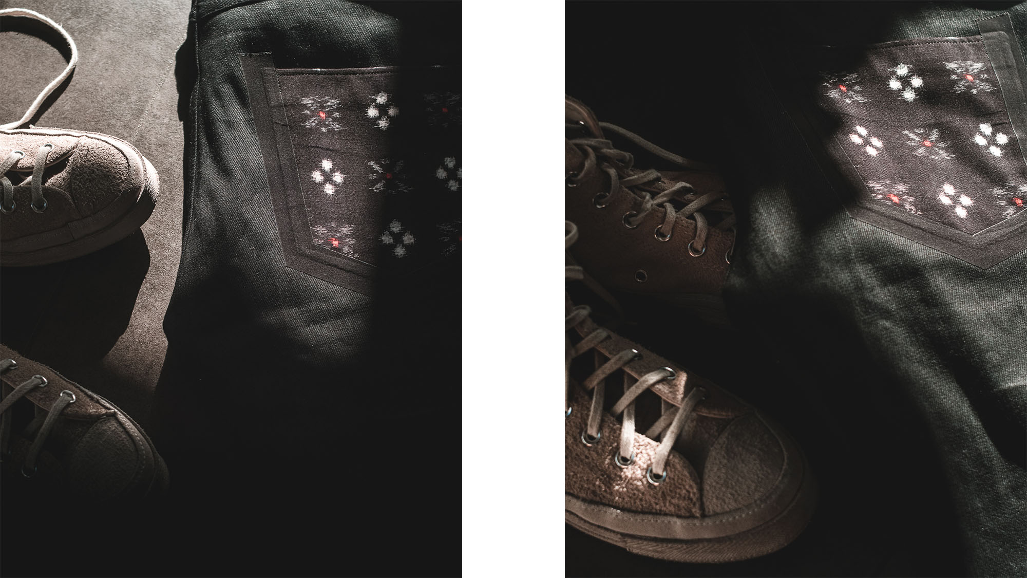 phi denim black jean / jean noir tapered homme