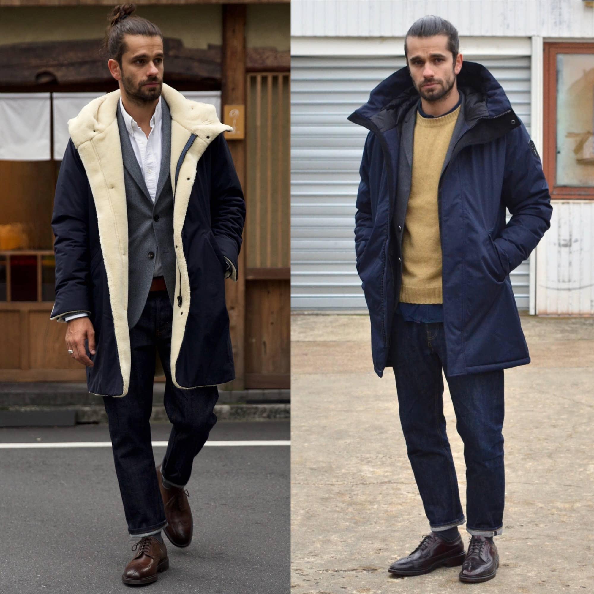 comment porter une parka dans un style casual chic