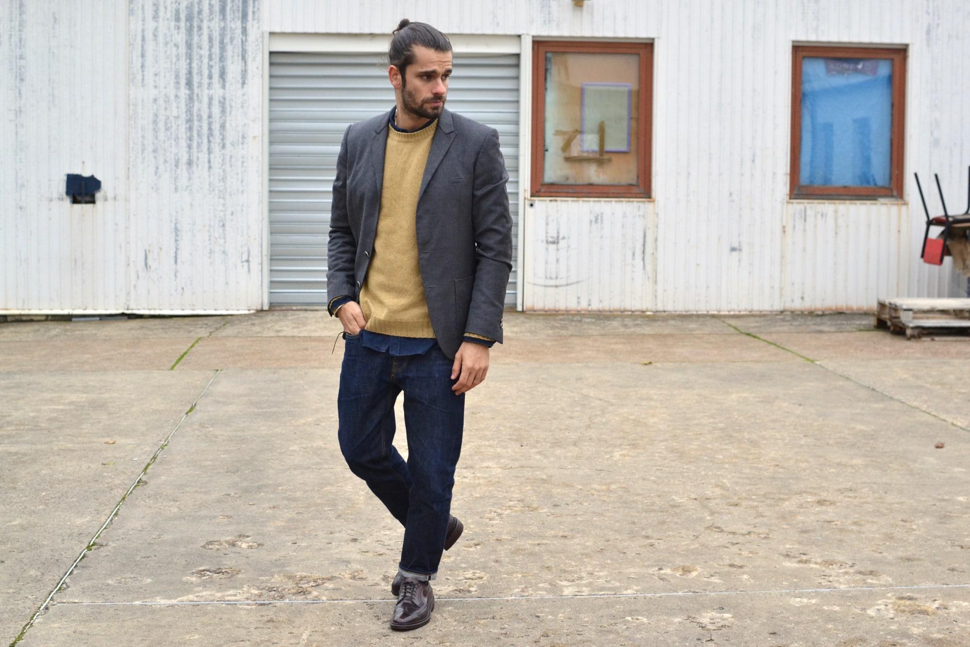tenue et style casual chic avec un touche d'inspiration heritage et street - idée de style homme masculin avec plus de volume et de confort