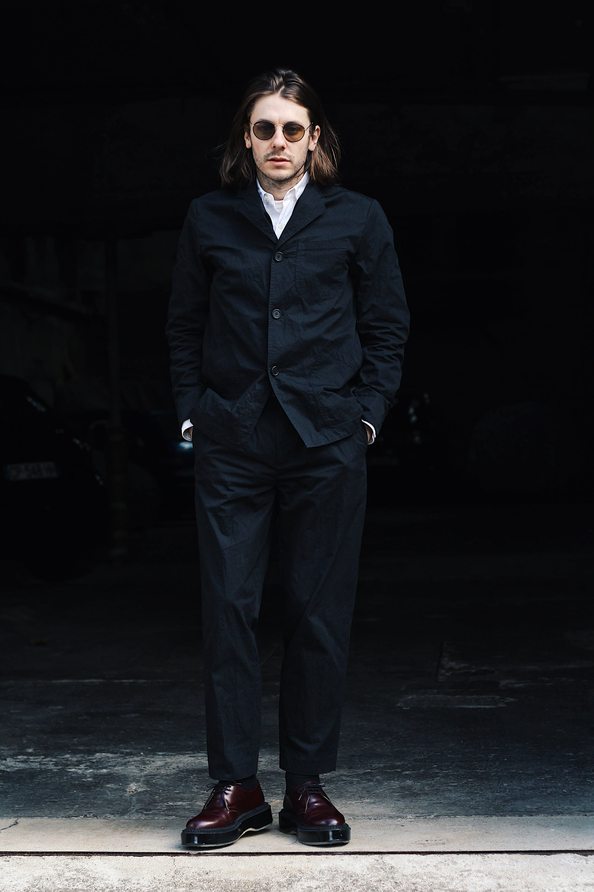 Thedenimmind - Black suite Kestin Hare stac blazer and wick trousers 1