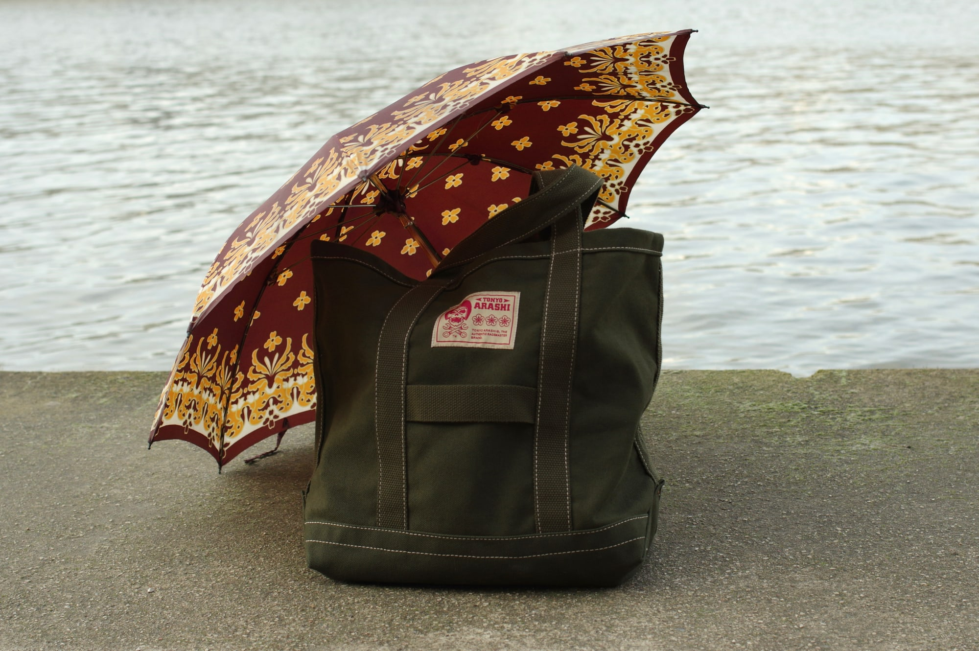 sac cabas tote bag d'inspiration militaire arashi denim idée sac à bandoulière homme style workwear