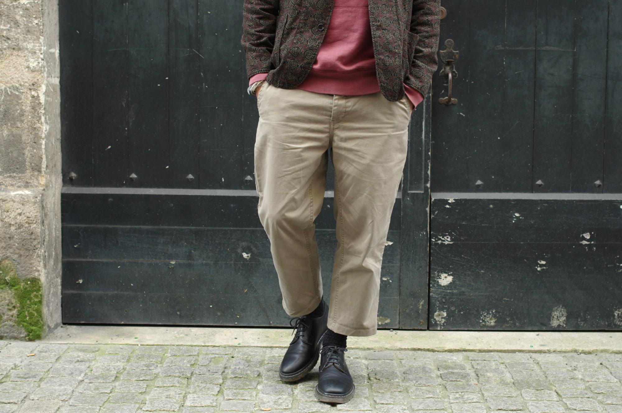 comment porter un pantalon ample Norse Projects Aros heavt chino loose en le coupant court et en le size-up