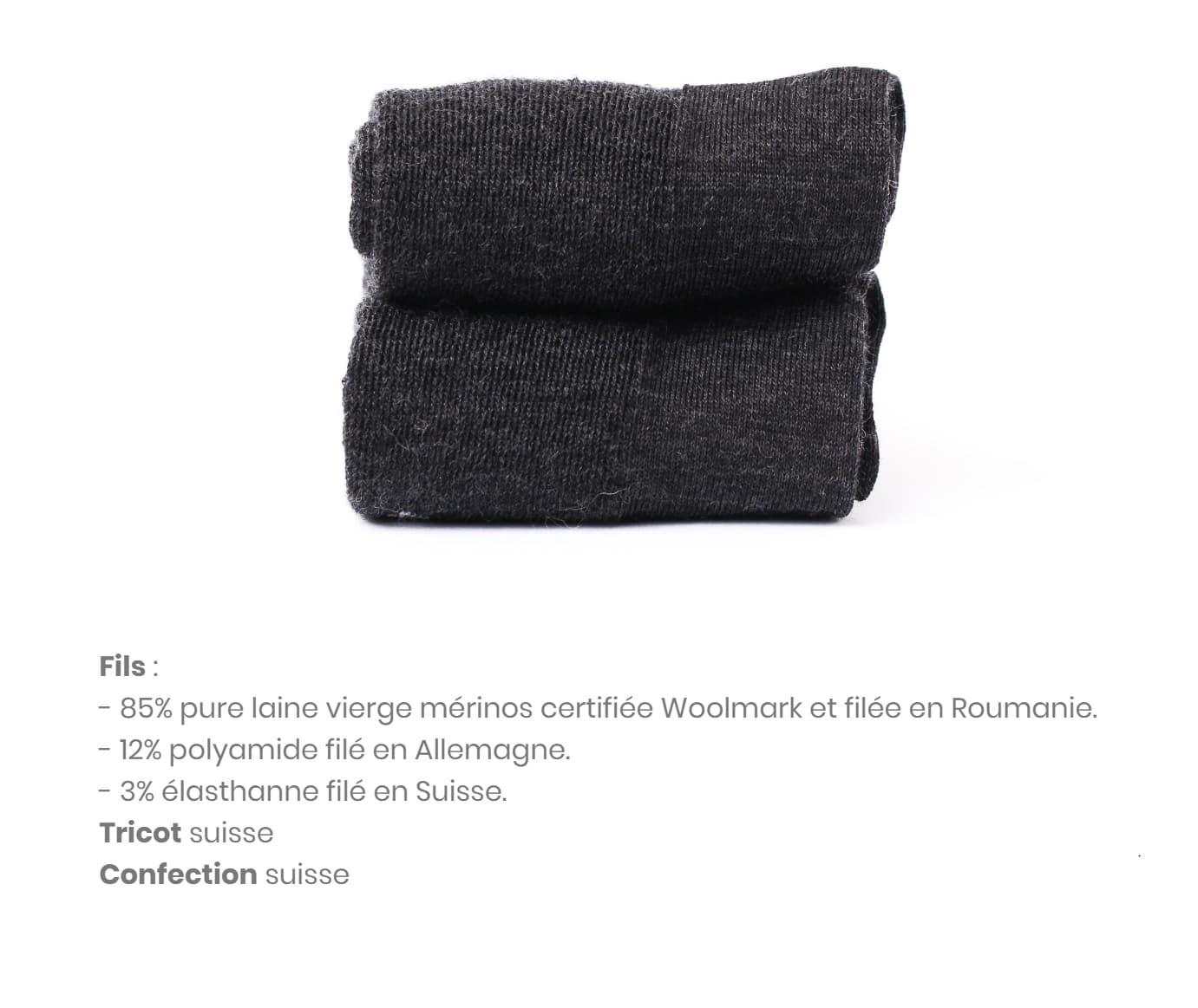 collection de chaussettes épaisses Sympa Bonnard en laine mérinos mais aussi cotton et soie et toujours éthique et responsable