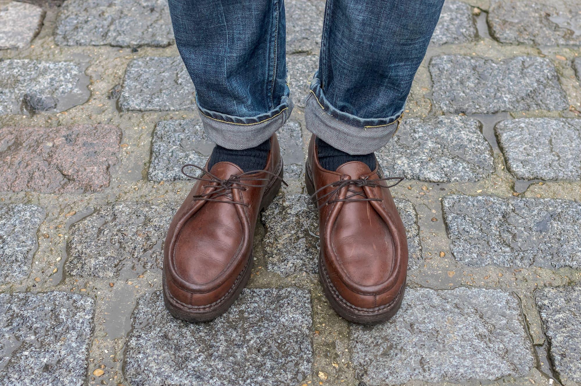 Paraboot Michael en cuir marron - comment les porter