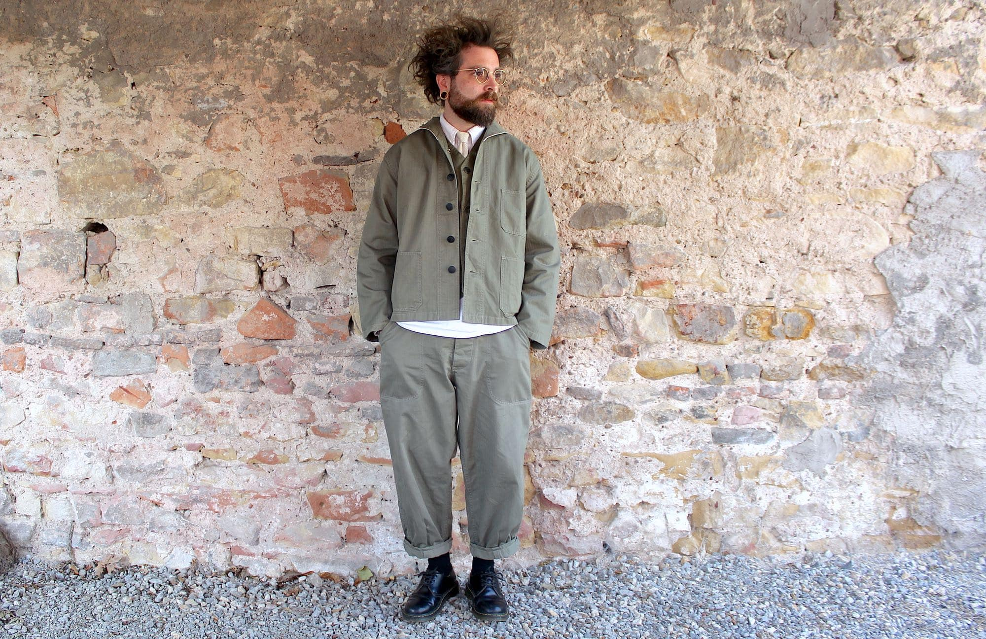 Arashi denim - marque workwear militaria - veste et pantalon HBT