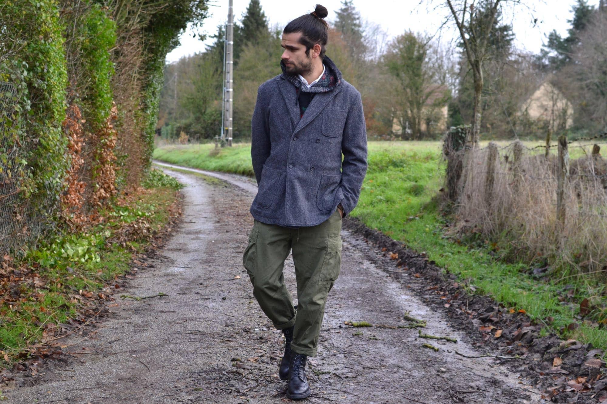 comment porter un pantalon cargo dans un style workwear militaire