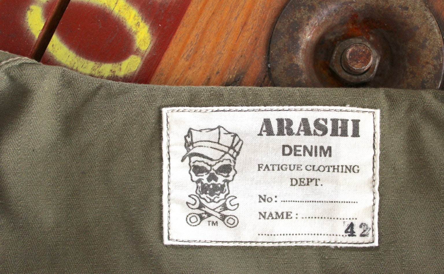 une marque française d'inspiration militaria vintage heritage - Arashi denim