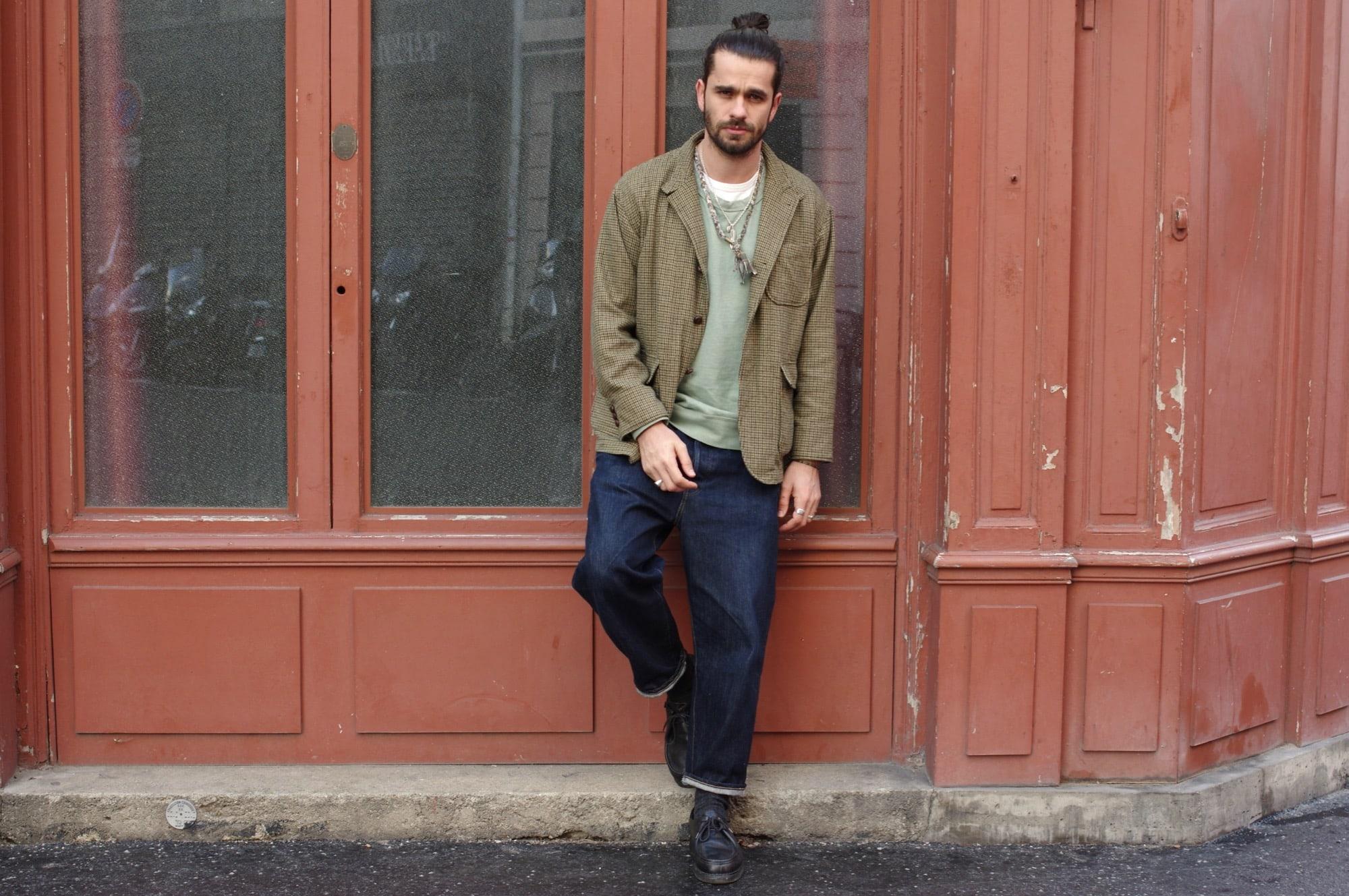 conseil mode masculine comment porter une veste en motif pied de poule dasn un style street heritage homme