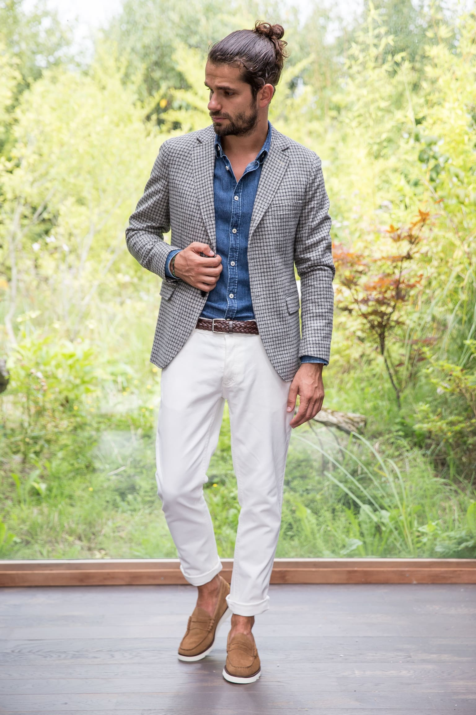 exemple de tenue casual chic slim-fit sprezzatura stylisme by Borasification