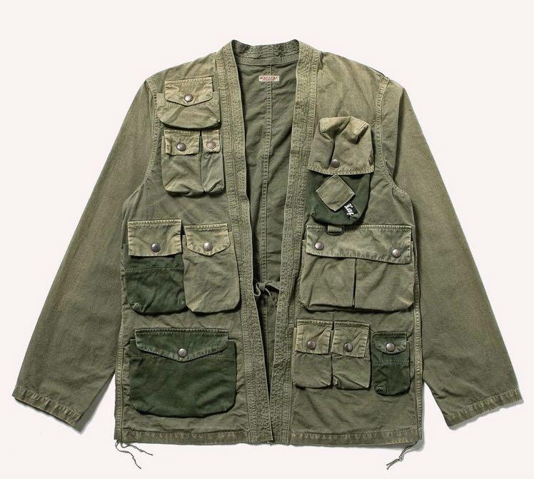 Kapital ripstop fishing kimono shirt - veste noragi revisitée - 1
