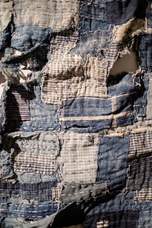exemple de boro japnais sur une noragi antique