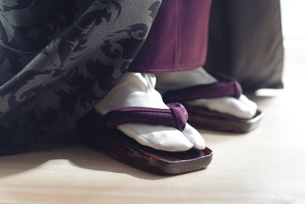 chausettes tabi traditionnelles avec sandales zori