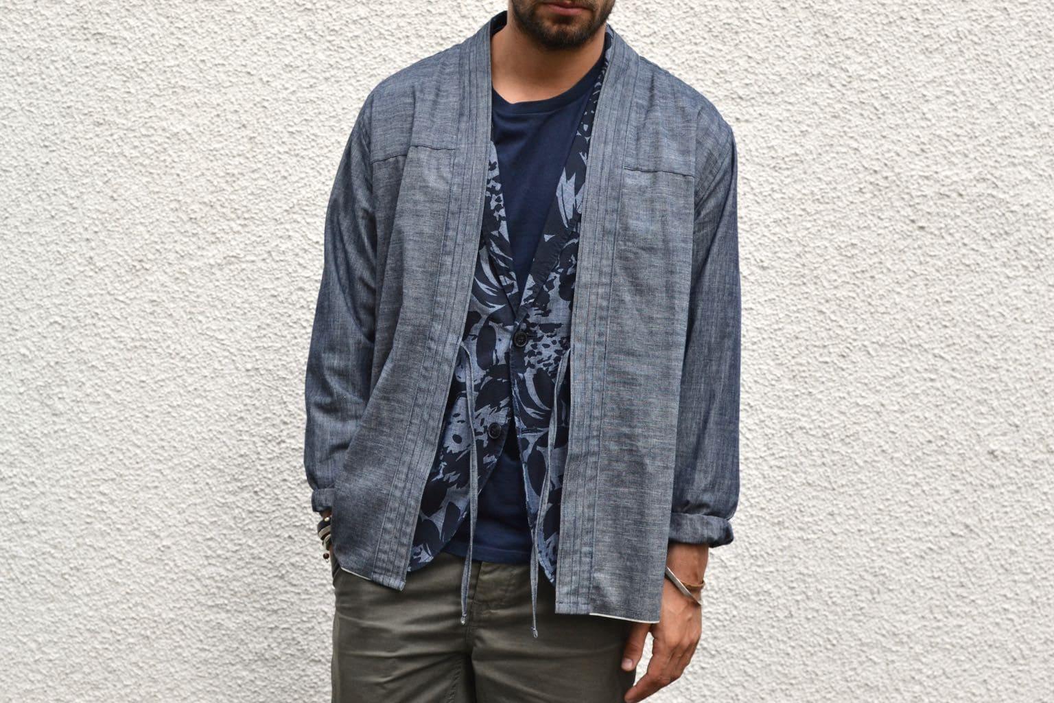 conseil look layering noragi kimono shirt naked & famous