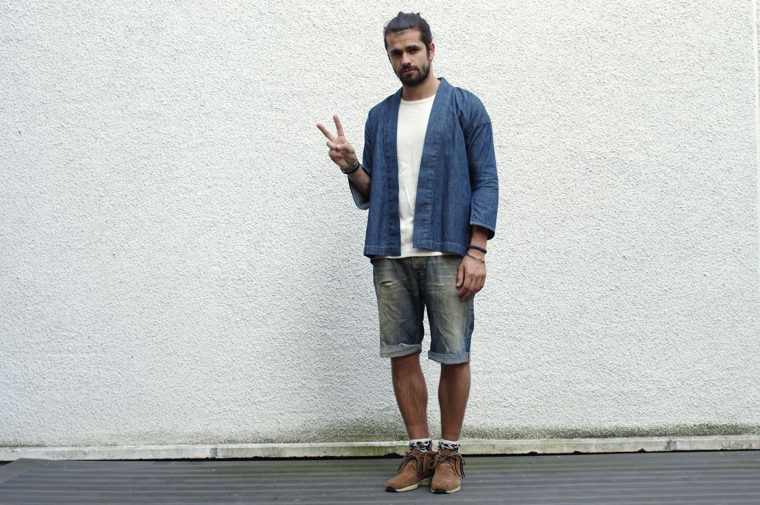 how to style noragi jacket visvim whith shorts and fbt