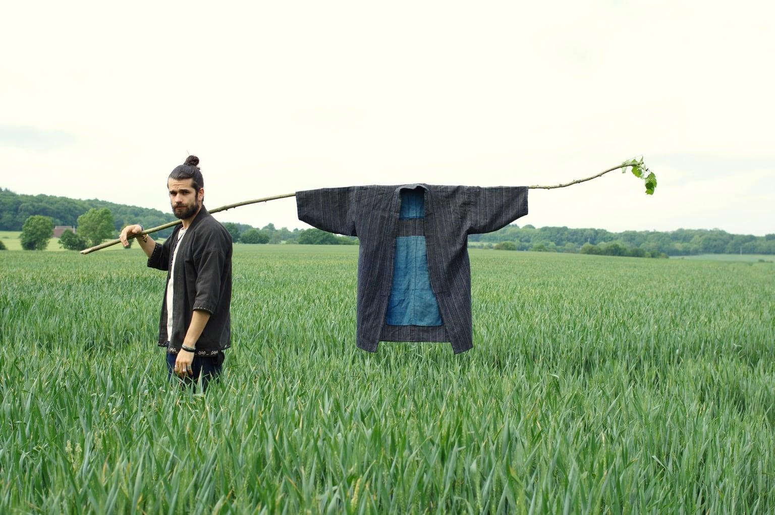 histoire et origine de la veste noragi- vêtement de fermier du japon rural