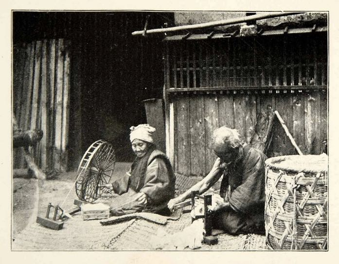 japanese-photographer-metier à tisser japon femme noragi 1896